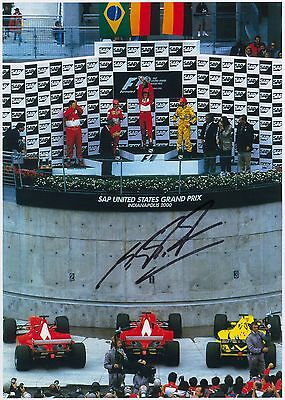 Michael Schumacher Signed Formula 1 F1 Photo Scuderia Ferrari 2000 Autograph USA