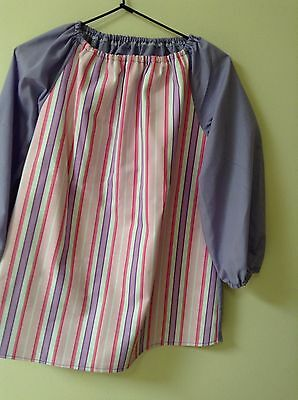 Girls stripes Art Smock  Girls 8-10 With Thermal Backing For Extra Protection