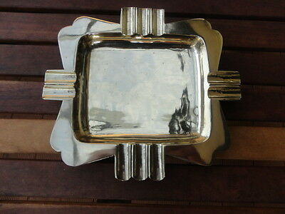 Solid Brass Hand made Art Deco Style Ashtray