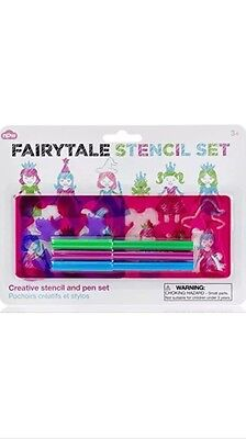 Fairytale Themed Stencil Set - Creative & Pen Children's Stationary Gift Drawing