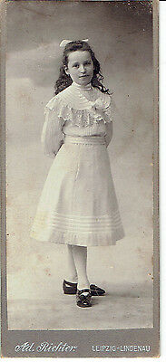 Young Girl Carte De Visite CDV Photograph Leipzig Germany Dated 1880-90's
