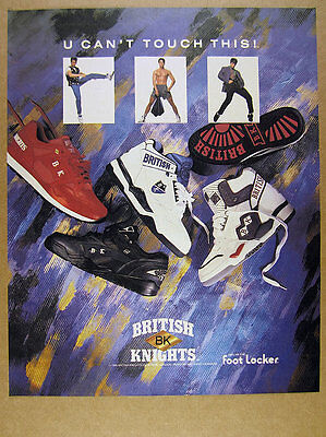 1990 BK British Knights 4 Styles red blue black shoes photo vintage print Ad