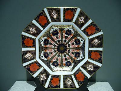 Royal Crown Derby England Old Imari Octagon Plate In Box - Very Good Condition