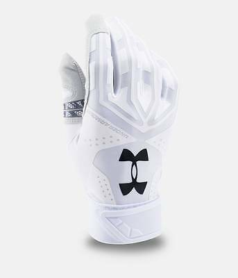 Under Armour Men's UA Motive Baseball Batting Gloves (White or Yellow) 1267429