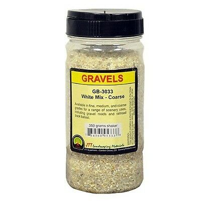 JTT Scenery Products Ballast and Gravel, White Mix, Coarse