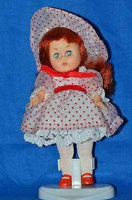 """Vogue Ginny Doll 1984 """"Rosebud"""" and Stand """"Be My Valentine"""""""