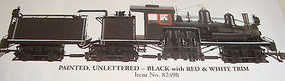 Bachmann G-Scale 3 Truck Shay 82498 Black With Red/wht Trim, Smoke & Lights New
