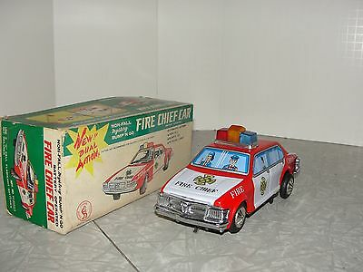 VIntage Fire Chief Car in the Box