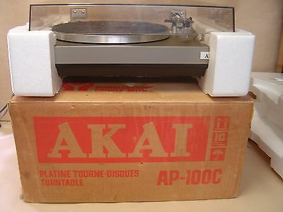 Akai AP-100c Turntable. Near New Condition. Just Serviced