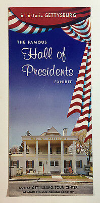 The Famous Hall of Presidents Exhibit in Historic Gettysburg, Vintage Brochure