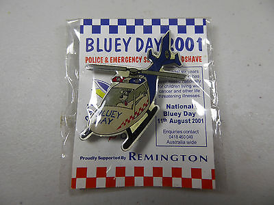 BLUEY DAY 2001 BADGE - Police & Emergency Services Headshave