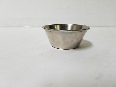 Lot of 2 Stainless Steel Rolled Edge 1 OZ Condiment Cups