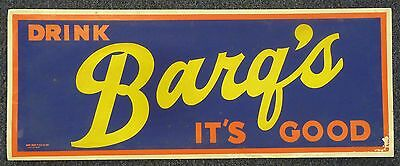 """1950's BARQ'S ROOT BEER Soda Pop Gas Station Grocery Store 28"""" Sign Original"""