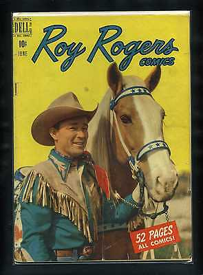 Roy Rogers Comics #30 G 1950 Dell Photo Cover Comic Book