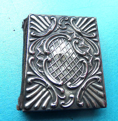 Antique Tested Sterling Silver Ornate Front Sewing Needle Book