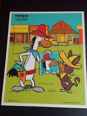 Playskool Hanna Barbera Wooden QuickDraw McGraw Baba Looey Puzzle 340-8