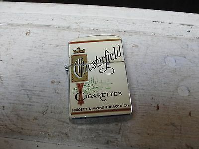 Vintage Chesterfield Cigarettes Continental Lighter Works ! Ex.