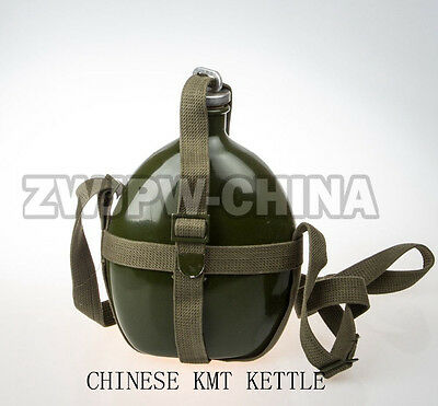 Wwii Chinese Army Kmt Soldier Kettle Canteen Camping Hiking Replica