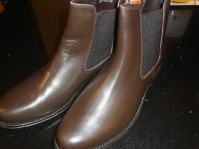 Mens brown leather Chelsea Boots size 10
