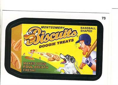 Wacky Packages MLB (2016) Montgomery Biscuits #73 Baseball Shaped Doggie Treats