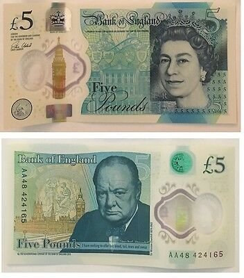 New £5 note AA48 five pound note