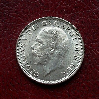 George V 1926 modified bust silver shilling