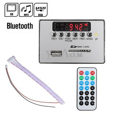 12V LED Bluetooth Voiture MP3 Audio Décodeur Board FM Radio USB SD Télécommande