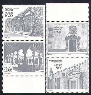 Mexico 1982 Buildings Colonial Architecture College Convent Chapel Monastery MNH