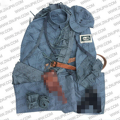 China Eight Route Army Uniform Full Equipment Kit Jacket Pants Leather Belt