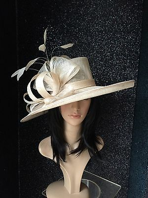 Nigel Rayment Champagne Wedding Ascot Hat Occasion Mother Of The Bride