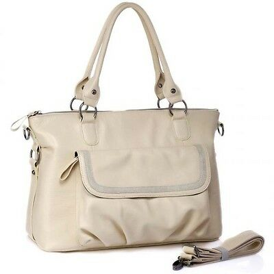 BNWT Boowiggie Leather Lily Hand Nappy Bag Nappybag Handbag Diaper Change $180