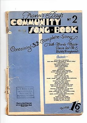 Community Song Book - Number 2 - 32 Songs - Francis And Day