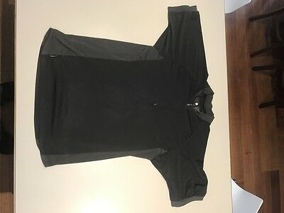 Nike base Layer Top M Medium Shirt mens Sports Active Gym Fitness Black