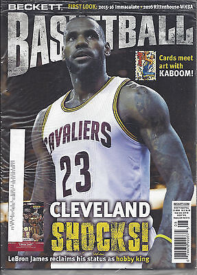 LeBron James Cover Beckett NBA Price Guide August, 2016 Issue # 287