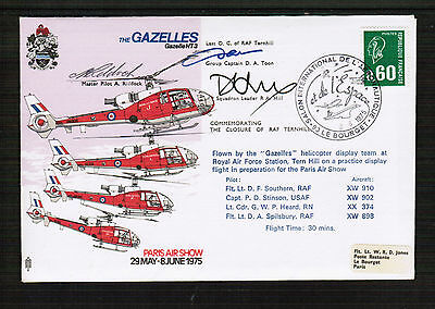 Gazelles Helicopter Display Team Cover signed