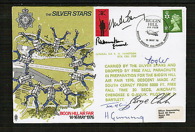Silver Stars Display Team Cover multi signed
