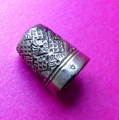 Antique Charles Illes Fancy Design Sewing Thimble