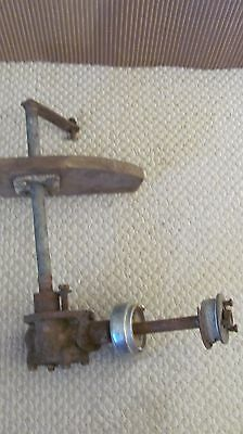 Vintage Chris Craft Steering Box And Chrome Piece
