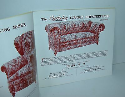** VINTAGE 1930s FURNITURE CATALOGUE with PRICES BERKELEY 44 PAGES **