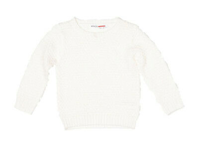 Baby Toddler Girls Soft Waffle Knitted Jumper - Cream 6-12 Months