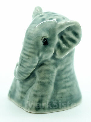 Collectible Finger Ceramic Sewing Animal Elephant Thimble - THB013