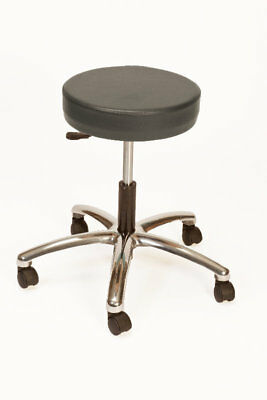 Brandt Industries Height Adjustable Lab Stool with Duel Wheel Charcoal