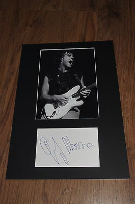 GARY MOORE signed 8x12 inch autograph matted + framed InPerson in Germany RARE