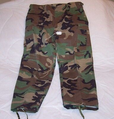 (F13) Woodland Camo Pattern Combat  Bdu Trousers  Large-Long