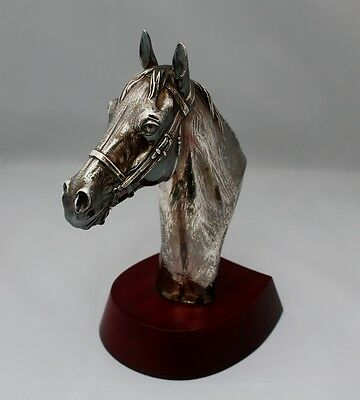 Elizabeth II,Silver Sculpture Thoroughbred Horse,Signed R Donaldson,Hallmarked