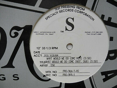 """12"""" Us**dsk - What Would We Do (Ffrr '91 / Test-Pressing)***18432"""