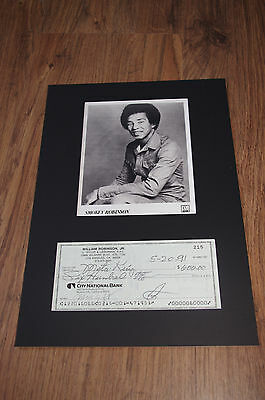 SMOKEY ROBINSON signed 8x12 inch autograph matted CHECK LOOK