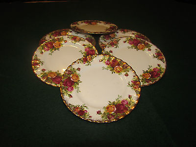 "ROYAL ALBERT OLD COUNTRY ROSE 8"" Side  PLATES X 6 2nds Look"