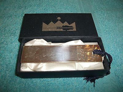 Book Marker~Shipping Design~Silver Coloured~Embossed With Liner~Boxed