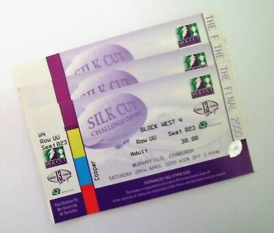 RUGBY LEAGUE MEMORABILIA - Unused 2000 Challenge Cup Final Ticket Murrayfield